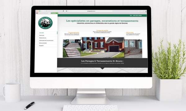 Conception du site internet de Pavages et Terrassements St-Bruno