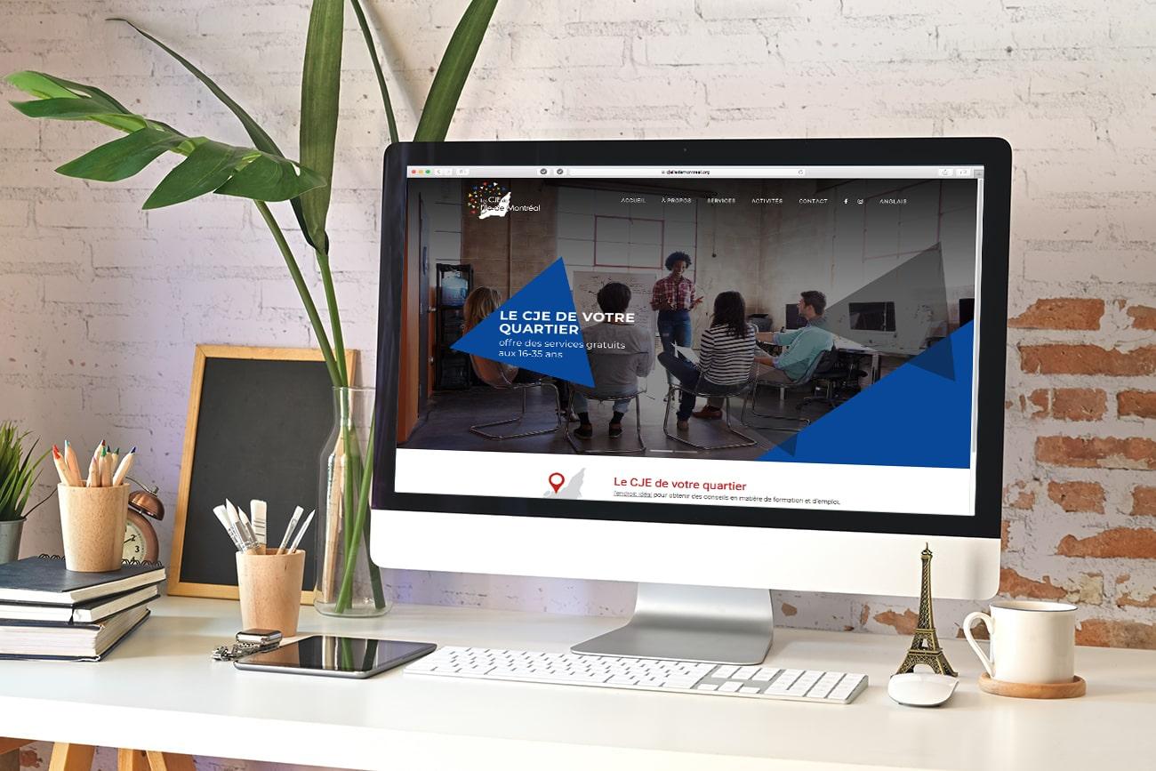 Conception du site internet des CJE de l'Île le Montréal
